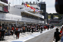 The GP2 pitlane