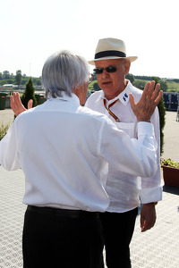 Bernie Ecclestone, with Peter Gerstl, Hungaroring Circuit