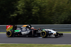 Nico Hulkenberg, Sahara Force India F1 VJM07 locks up under braking