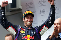Daniel Ricciardo, Red Bull Racing celebrates on the podium