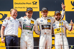 DTM: Podium: race winner Marco Wittmann, BMW Team RMG BMW M4 DTM, second place  Augusto Farfus, BMW Team RBM BMW M4 DTM, third place Timo Glock, BMW Team MTEK BMW M4 DTM and BMW Team RBM boss Stefan Reinhold