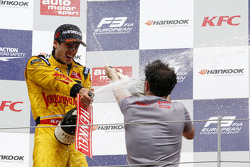 EUROF3: Podium: second place Antonio Giovinazzi