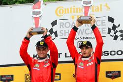 GTLM podium: winners Pierre Kaffer, Giancarlo Fisichella