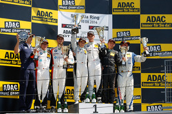 Podium: race winners Dominik Baumann, Claudia Hurtgen, second place Jens Klingmann, Maximilian Sandritter, third place David Jahn, Sven Barth