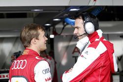 Mattias Ekström, Audi Sport Team Abt Sportsline, Audi A5 DTM with his engineer