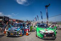#43 Hoonigan Racing Division Ford Fiesta ST: Ken Block and #77 Volkswagen Andretti Rallycross Volkswagen Polo: Scott Speed