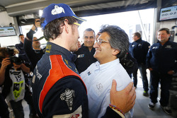 Winner Thierry Neuville and Michel Nandan