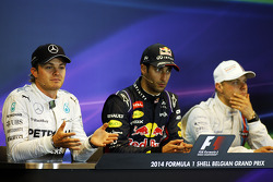 The post race FIA Press Conference, Nico Rosberg, Mercedes AMG F1, Daniel Ricciardo, Red Bull Racing, Valtteri Bottas, Williams