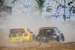 #34 Volkswagen Andretti Rallycross Volkswagen Polo: Tanner Foust, #14 Barracuda Racing Ford Fiesta ST: Austin Dyne
