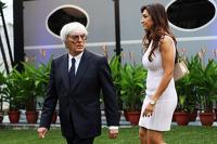 Bernie Ecclestone, with his wife Fabiana Flosi