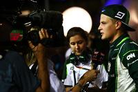 Marcus Ericsson, Caterham with the media