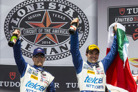 P1 podium: winners Scott Pruett, Memo Rojas