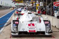 #1 Audi Sport Team Joest Audi R18 E-Tron Quattro covered before qualifying
