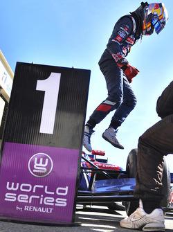 Race winner Carlos Sainz Jr.