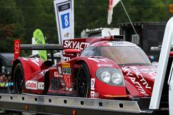 Damaged #07 SpeedSource Mazda Prototype: Joel Miller, Tristan Nunez, Tristan Vautier