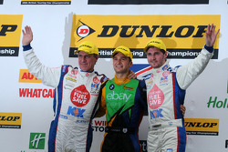 MG pair Jason Plato and Sam Tordoff let newly crowned Champion Colin Turkington take the top step after Round 28