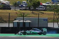 Lewis Hamilton, Mercedes AMG F1 W05, spint tijdens de race