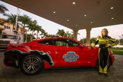 Miss Sprint Cup with the Ford Mustang 2015 pace car for the Ford 400