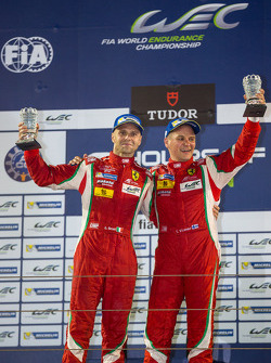 LMGTE Pro winners Gianmaria Bruni and Toni Vilander