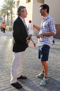 (L to R): Carlos Sainz, with Mark Webber, Porsche Team WEC Driver