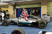 Race winner and World Champion Lewis Hamilton, Mercedes AMG F1 W05 celebrates in parc ferme