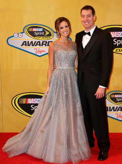 Kyle Busch and his wife Samantha