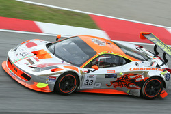#33 Clearwater Racing Ferrari 458 GT3: Richard Wee, Matt Griffin