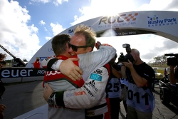 Winners Tom Kristensen and Petter Solberg