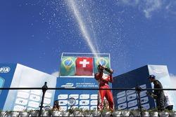 Podium: second place Nelson Piquet Jr., China Racing