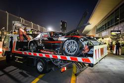 #5 Car Collection Motorsport Mercedes SLS AMG GT3 after a heavy crash