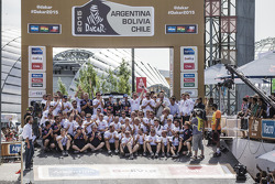 Car category podium: Peugeot team