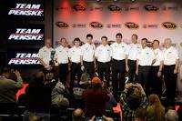 Ryan Blaney, Joey Logano, Brad Keselowski, Tim Cindric, Paul Wolfe, Roger Penske, Team Penske