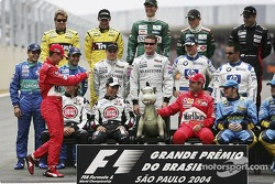 Drivers of the 2004 World Championship photoshoot: here's the man…