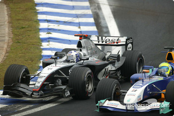David Coulthard and Felipe Massa