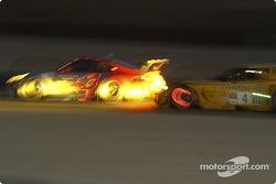 #44 Flying Lizard Motorsports Porsche 911 GT3 RSR: Seth Neiman , Lonnie Pechnik, Jon Fogarty, #4 Corvette Racing Corvette C5-R: Oliver Gavin, Olivier Beretta
