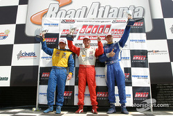 Podium: race winner Pierre Kleinubing with Justin Marks and James Clay