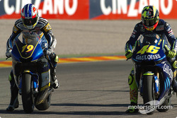 Oliver Jacque and Valentino Rossi