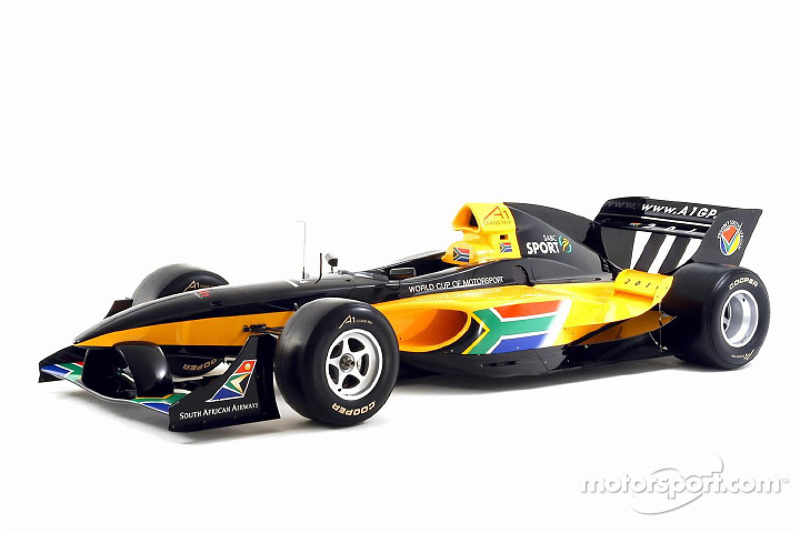 the new lola a1 grand prix car is launched in south african livery at a1 gp south africa launch. Black Bedroom Furniture Sets. Home Design Ideas