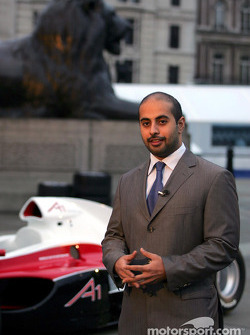 His Highness Sheikh Maktoum Hasher Maktoum Al Maktoum (UAE) CEO and President of A1 Grand Prix at the launch of A1 Grand Prix