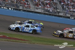 Pace laps: Ryan Newman and Brian Vickers lead the field