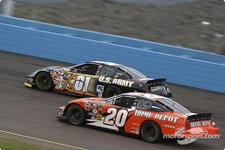 Joe Nemechek and Tony Stewart