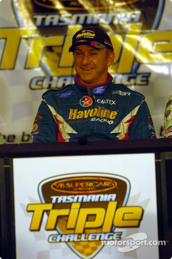 Russell Ingall is all smiles