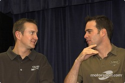Press conference: Kurt Busch and Jimmie Johnson