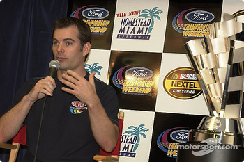 Press conference: Jeff Gordon