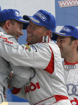 LM P1 podium: JJ Lehto celebrates