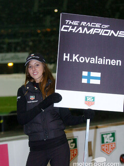 Grid girl of Heikki Kovalainen