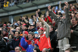 The fans happy with the action