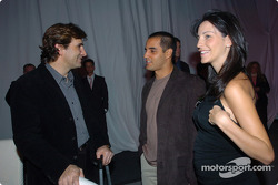 Alex Zanardi with Juan Pablo Montoya and wife Connie