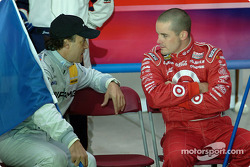 Jean Alesi chats with Casey Mears