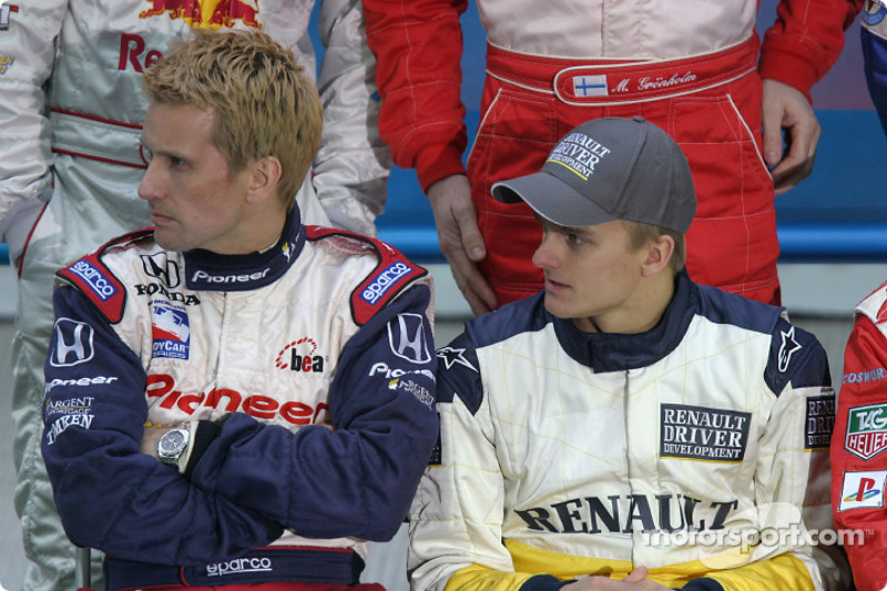 Kenny Brack and Heikki Kovalainen